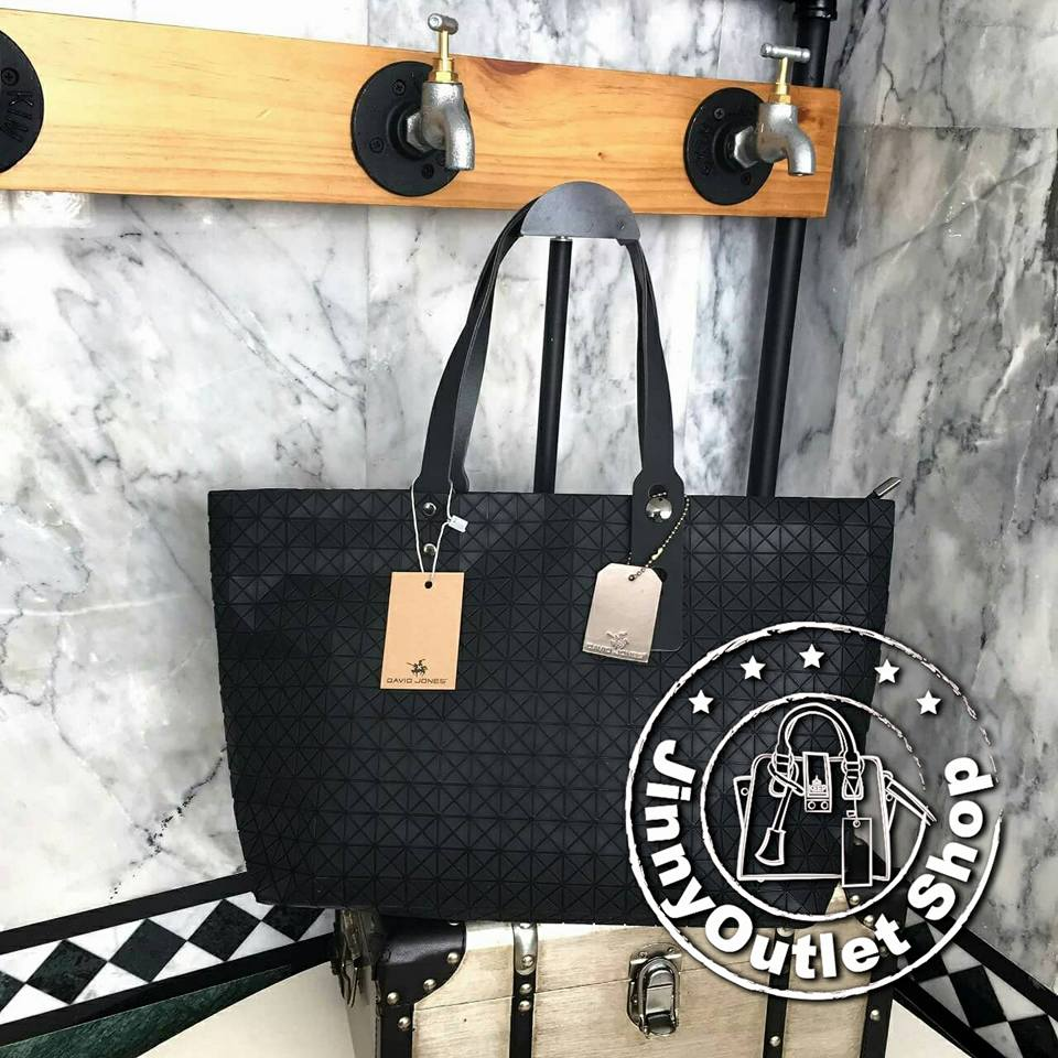 David Jones Tote ( Matte Black )