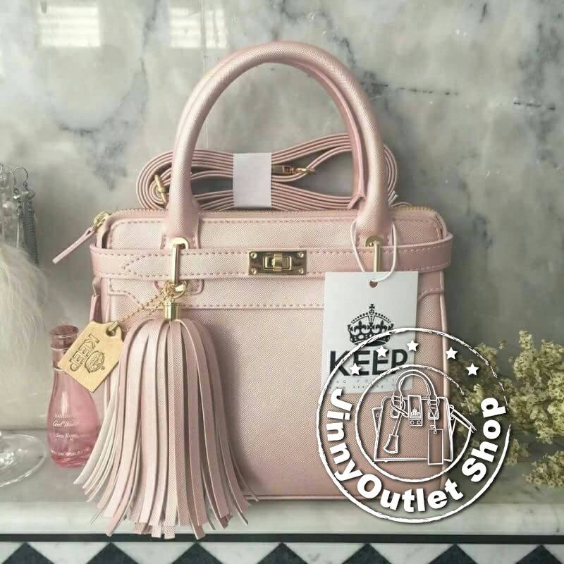 KEEP ( Saffiano Office Hand Bag With Frink Key-Love Spell )