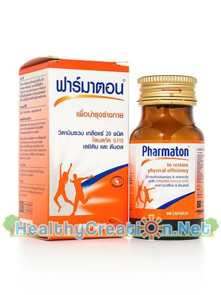 Pharmaton ฟาร์มาตอน วิตามินรวม เกลือแร่ 20 ชนิด โสมสกัด G115 เลซิติน ดีนอล
