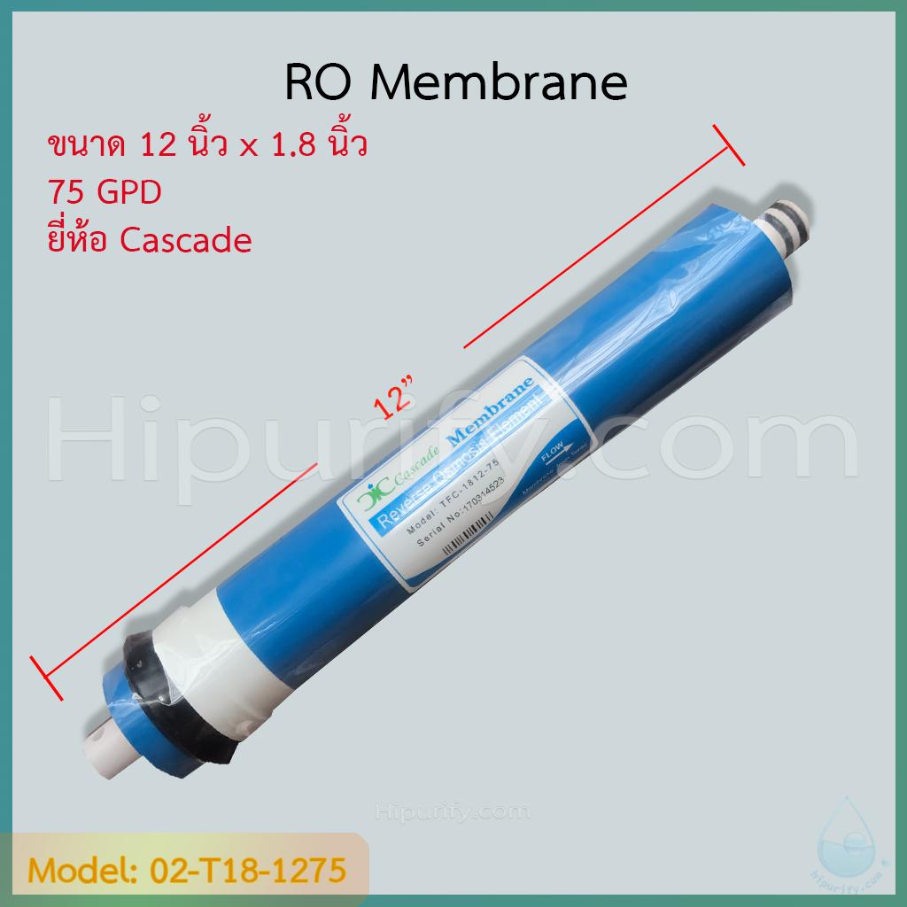 ไส้กรอง RO Membrane 75 GPD ยี่ห้อ Cascade ชิ้น/ลัง