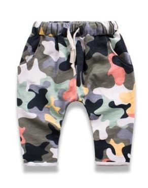 W100 : กางเกงขายาวผ้ายืดลายพราง