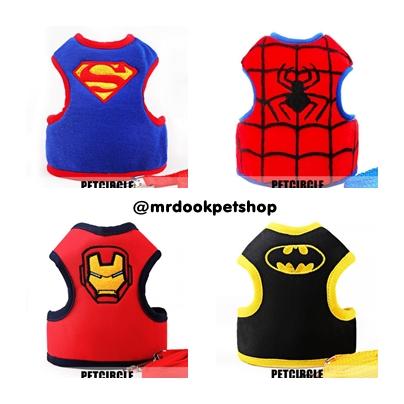 สายจูงรัดอก เสื้อรัดอก ลายSuper Hero