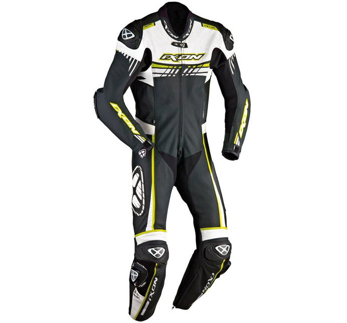 IXON STABUST RACING SUIT - BLACK/EHITE/DRIGHT/YELLOW