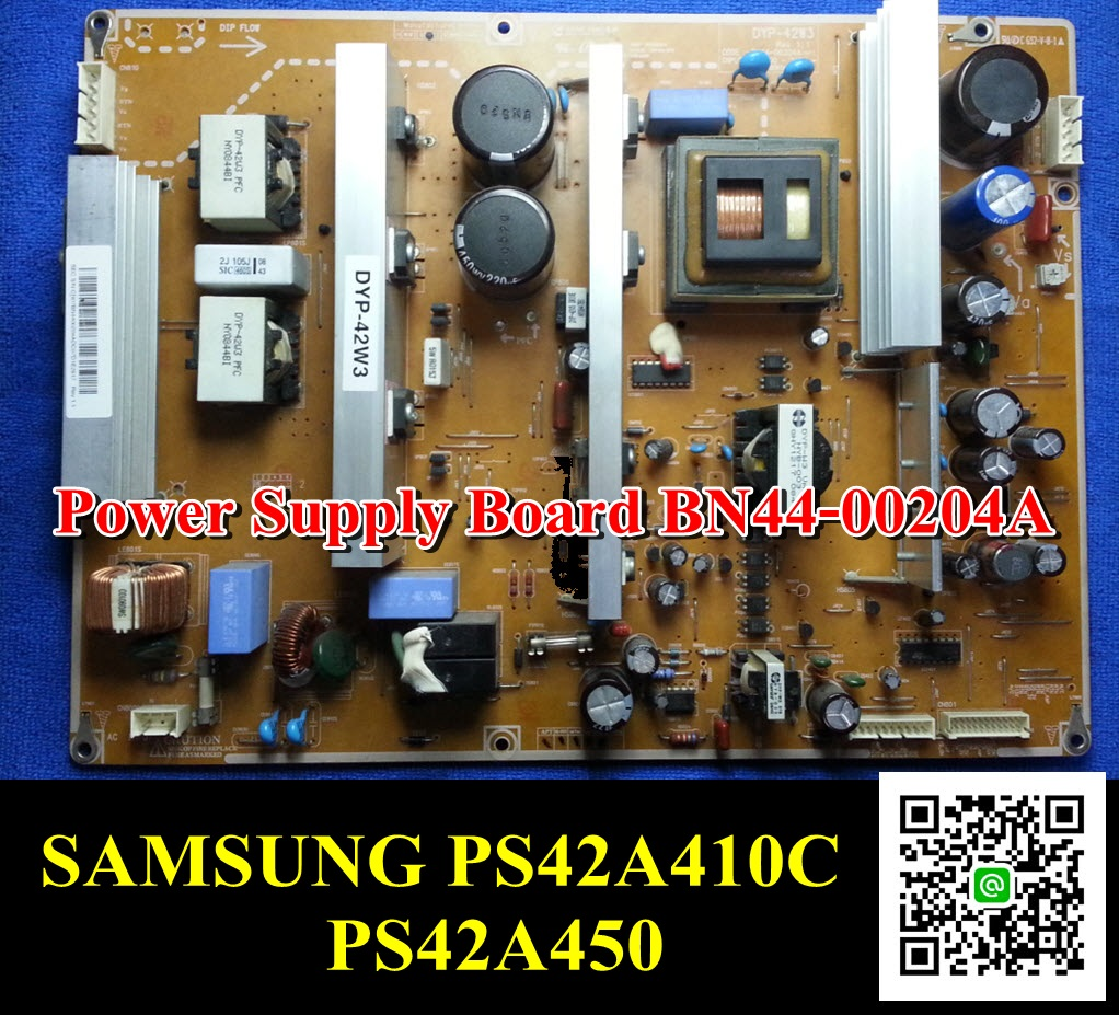 #Power Supply Board BN44-00204A SAMSUNG PS42A410C PS42A450 PCB : DYP-42W3