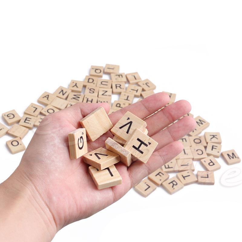 Wooden Scrabble บล๊อคไม้ตัวอักษร ของเล่นพัฒนาสมอง ของเล่นไม้