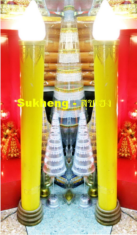 เทียนพรรษาไฟฟ้าสีเหลืองขนาดสูง 1.2 เมตร