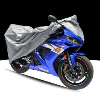 ผ้าคลุมรถมอเตอร์ไซค์ SIZE L สำหรับรถ BIG-BIKE และจักรยานยนต์ทั่วไป (สีเงิน)