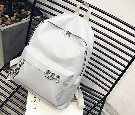 กระเป๋าเป้ LB001 เป้ใบใหญ่ ใส่หนังสือได้ White