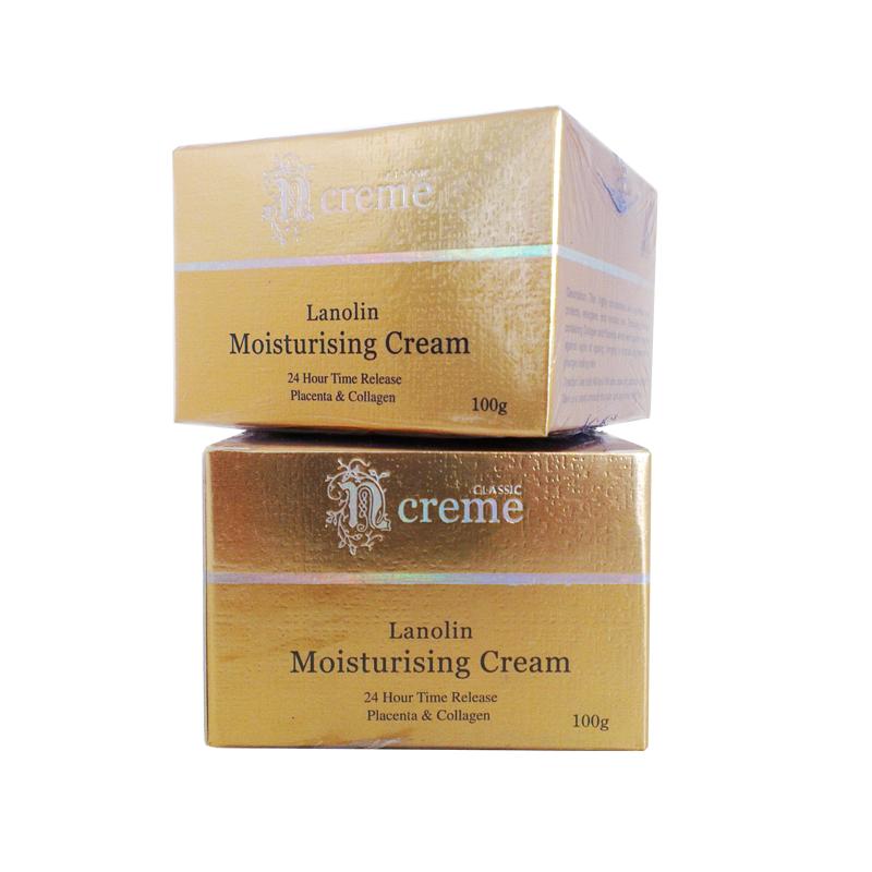 N Creme Lanolin Moisturising Cream with Placenta & Collagen ครีมลาโนลินผสมรกแกะและคอลลาเจน 100g. (2กระปุก)
