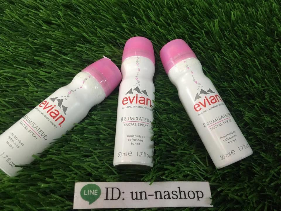 Evian Spray สเปรย์น้ำแร่ Evian เหมาะสำหรับทุกสภาพผิว เด็กก็สามารถใช้ได้ไม่ระคายเคือง เพราะมีส่วนผสมของน้ำแร่บริสุทธิ100%