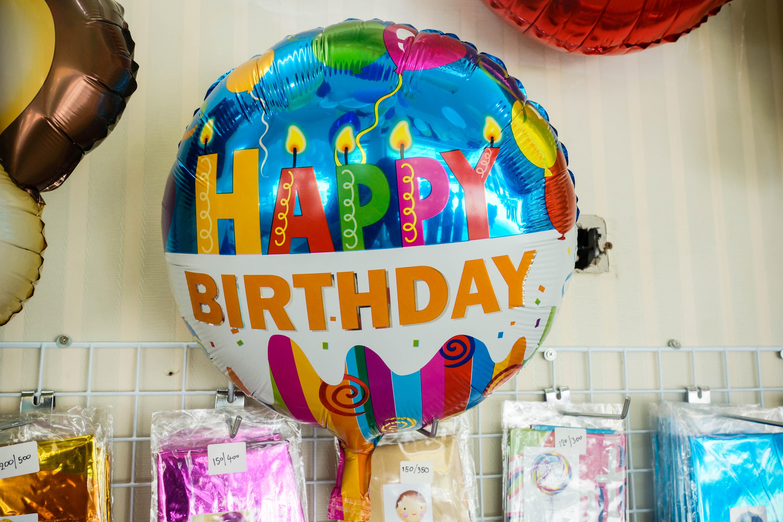 ลูกโป่งฟอร์ยวงกลม Happy birthday ขนาด 18.5 นิ้ว