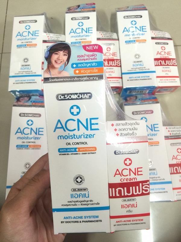 Dr.Somchai Acne Moisturizer Oil Control Anti-Acne Whitening แอคเน่ มอยส์เจอร์ไรเซอร์ ครีมบำรุงสําหรับคนเป็นสิว