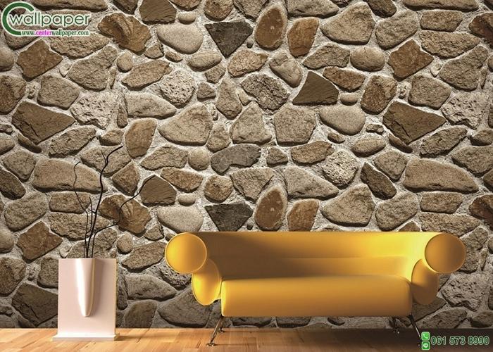 วอลเปเปอร์ลายหินก้อน รูปทรงธรรมชาติ