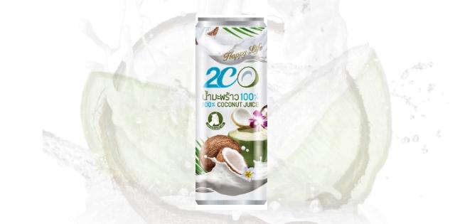 น้ำมะพร้าวผสมน้ำนมมะพร้าว 2CO(ทูซีโอ)