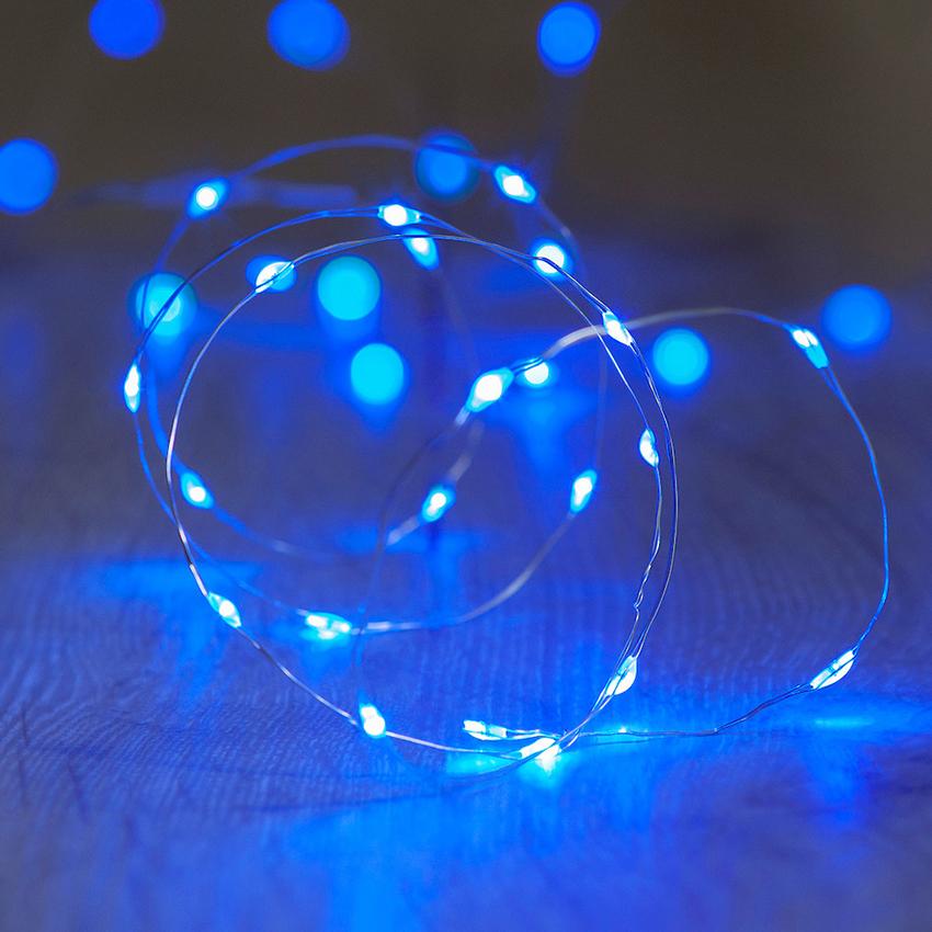 ไฟแฟรี่ ไฟลวด LED ตกแต่ง หักงอได้ ยาว 2 เมตร สีฟ้า