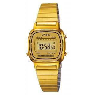 นาฬิกา CASIO ดิจิตอล สีทอง รุ่น LA670WGA-9 STANDARD DIGITAL RETRO CLASSIC ของแท้ รับประกันศูนย์ 1 ปี