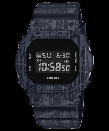 นาฬิกา คาสิโอ Casio G-Shock Limited Slash Pattern series รุ่น DW-5600SL-1 ของแท้ รับประกันศูนย์ 1 ปี