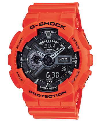 นาฬิกา คาสิโอ Casio G-Shock Limited Rescue Orange Series รุ่น GA-110MR-4A สีส้มนักดับเพลิง ของแท้ รับประกันศูนย์ 1 ปี
