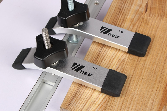 W-New Hold Down Miter/ Combo Track with M8 Knob- แคล้มป์ยึดงานไม้ ติดราง Miter หรือ Combo Track