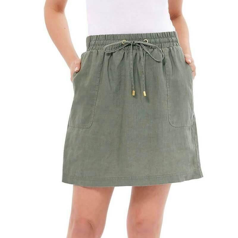( ไซส์ XL เอว 38-40 ) กระโปรงกางเกง สี เขียว ยี่ห้อ company มีโบว์เอว น่ารักมากๆคะ