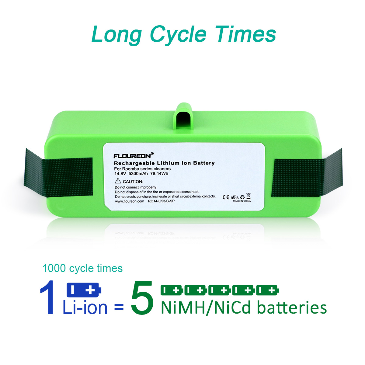 CyberTech New Replacement Ni-Mh Battery for iRobot Roomba 500 600 700 800 Series