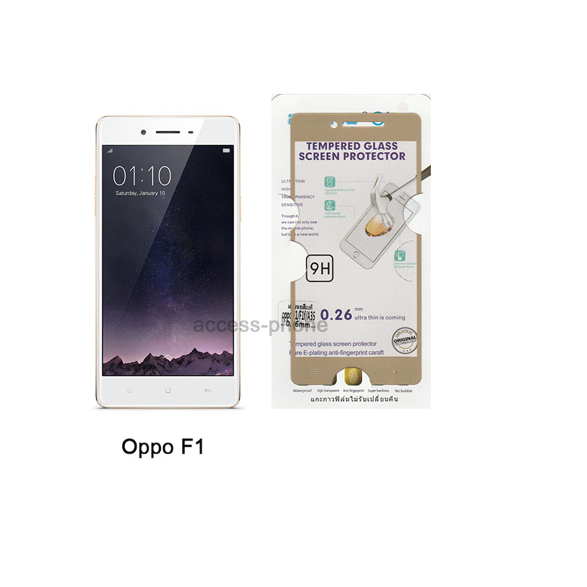 P-one ฟิล์มกระจกเต็มจอ Oppo F1/F1f/A35 สีทอง
