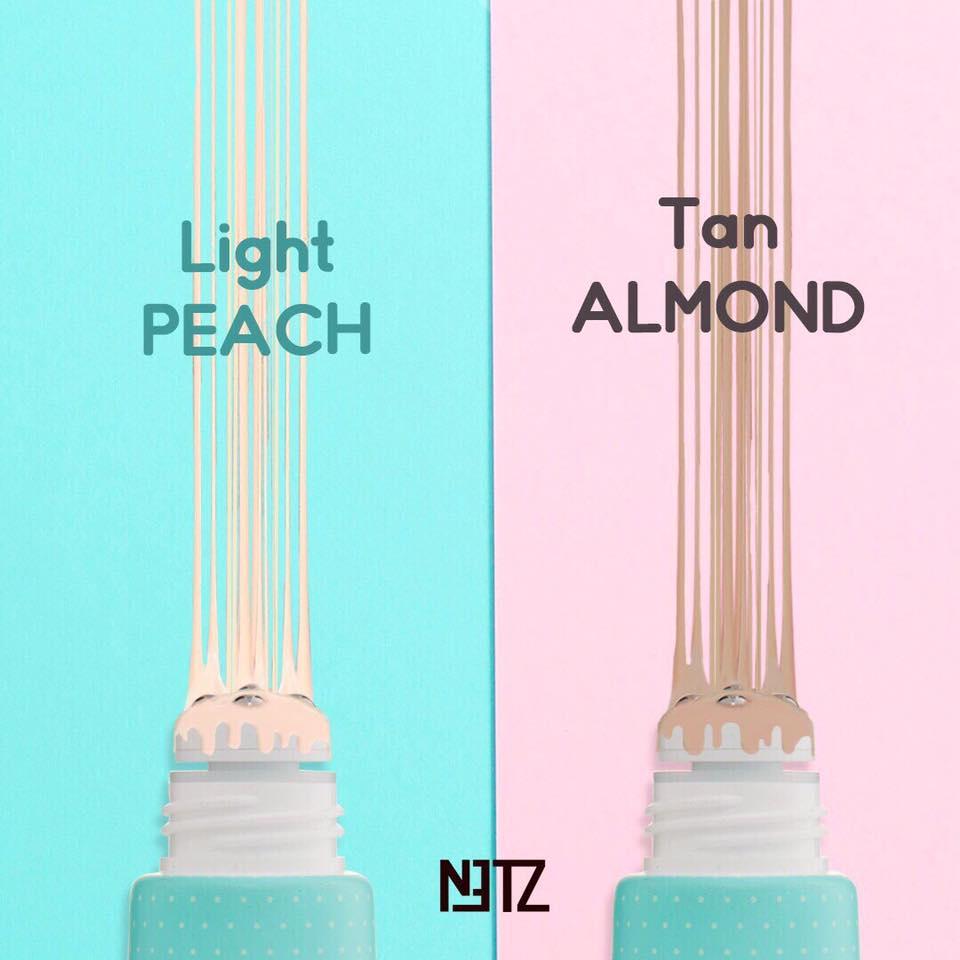 พร้อมกับ 2 โทนสีพิเศษ ที่คิดค้นขึ้น สำหรับผิวคนเอเชียโดยเฉพาะ 1. Peach : โทนสีสว่าง สาหรับผิวขาว-ขาวเหลือง 2. Almond : โทนสีเข้ม สาหรับผิวสองสี