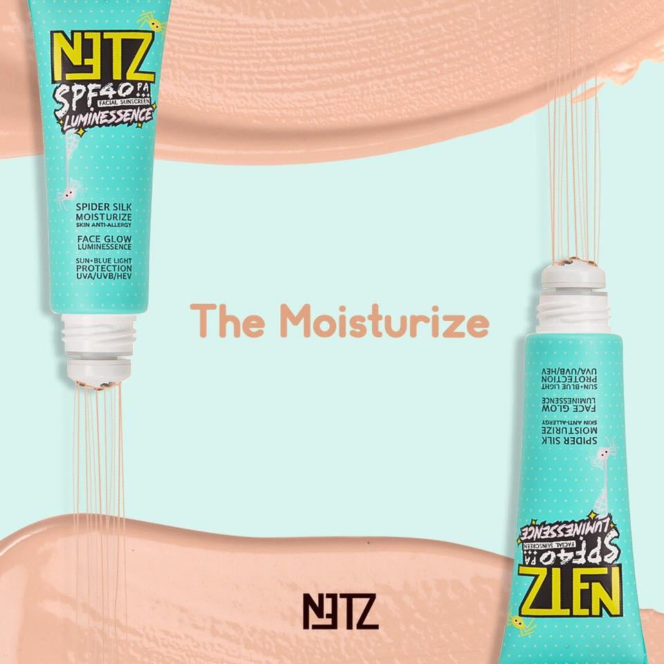 NETZ กันแดดอย่างต่อเนื่องด้วย Encapsulating technique ใครที่เลือกใช้ NETZ ลูมิเนสเซนส์ใยแมงมุม มั่นใจได้เลยกับการกันแดดที่มีประสิทธิภาพ ด้วย Encapsulating technique ที่ค่อยๆ ปล่อยส่วนผสมกันแดดให้ทำงานอย่างต่อเนื่อง