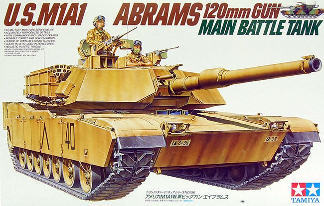 รถ U.S.M1A1 ABRAMS 120mm (1/35) TAMIYA (TA 35156)