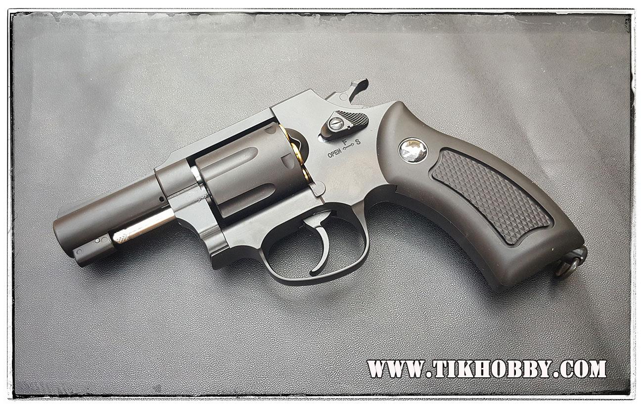ปืนลูกโม่ ระบบแก๊ส Co2 Wingun731 ฺBlack ขนาด2.5นิ้ว Gun Heaven