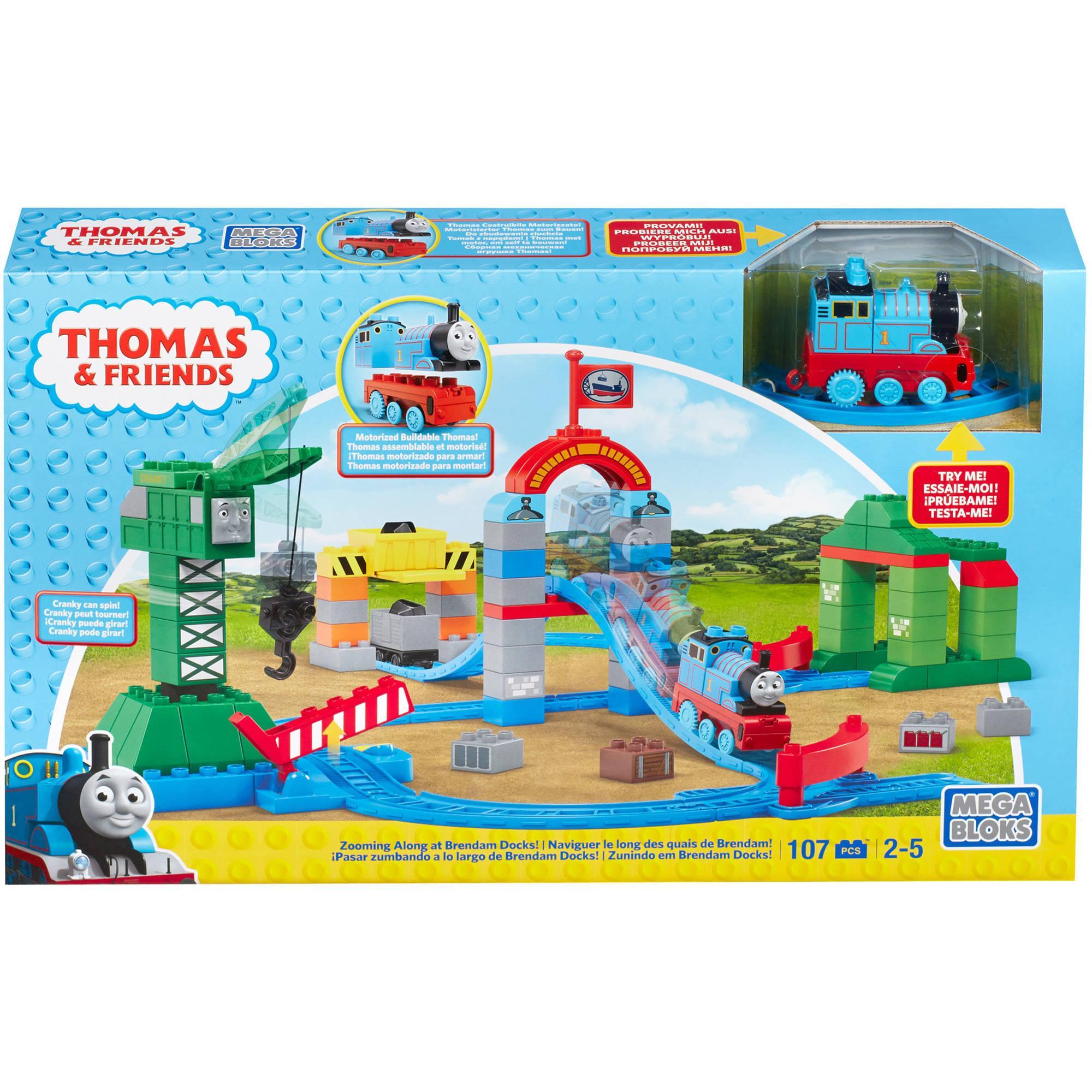 ตัวต่อรถไฟ Mega Bloks Thomas & Friends Brendam Docks Deluxe Starter Set
