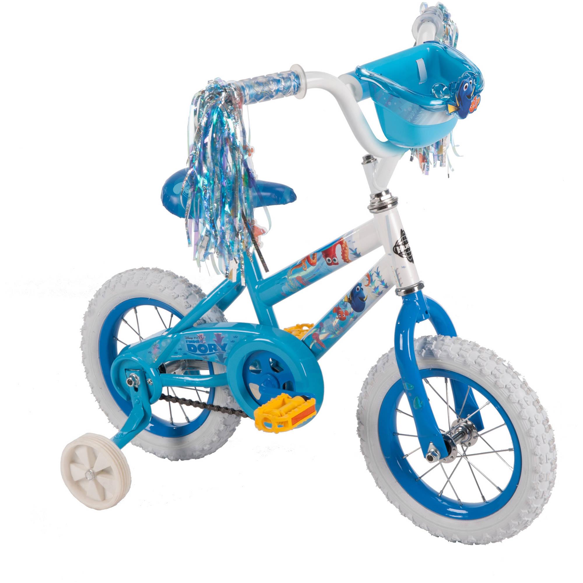 """จักรยานดอรี่ 4 ล้อ 12นิ้ว Huffy Girls' Disney Finding Dory Bike 12"""""""
