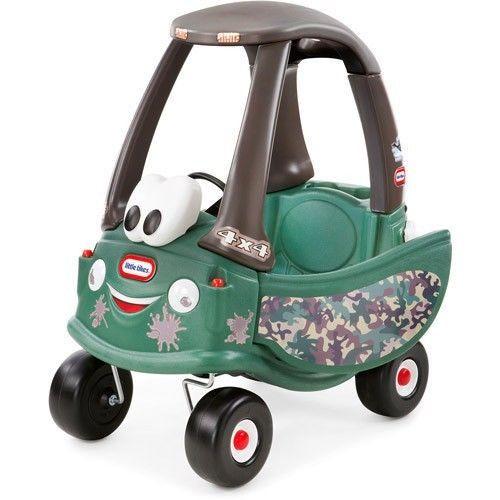รถขาไถและรถผลักเดิน Little Tikes Cozy Coupe Off-Roader Ride-On สีเขียวทหาร Limited Edition