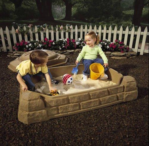 กระบะทรายขนาดใหญ่พร้อมฝาปิด Step 2 Naturally Playful Sandbox ลายกล่องขุมทรัพย์ลายแทงมหาสมบัติ