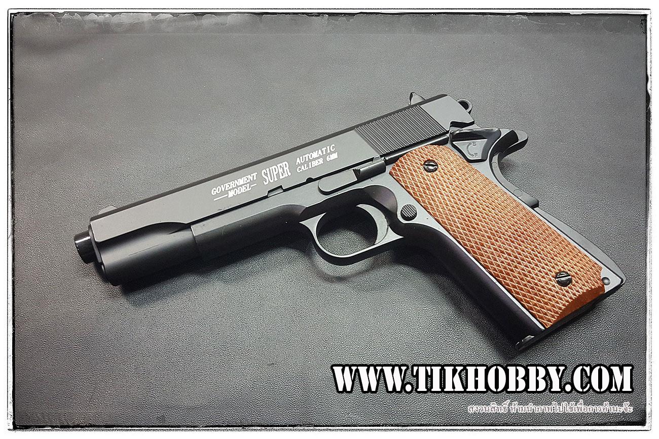 ปืนอัดลมแบบชักยิงทีล่ะนัด 1911A1 สีดำ งานจีน Up Grade