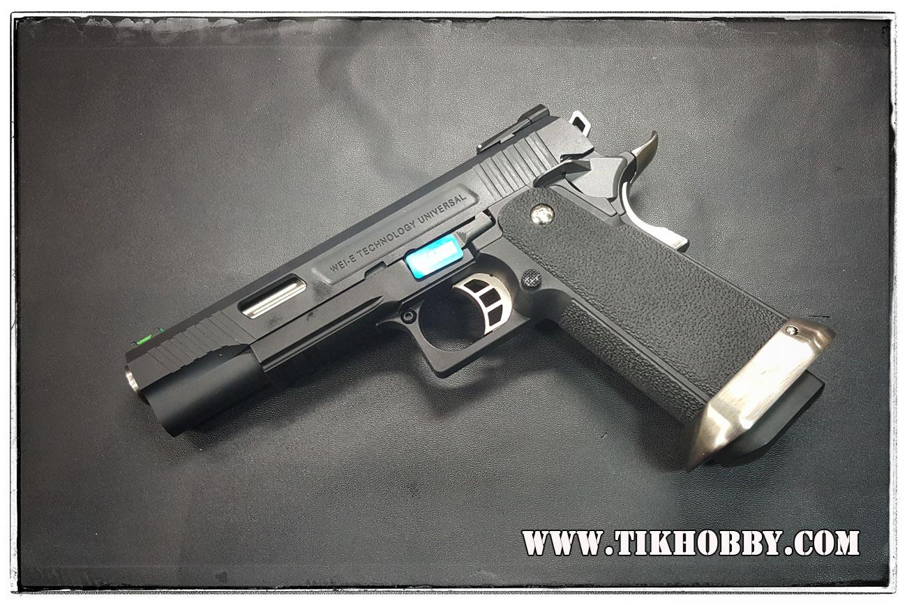 ปืนอัดลม(ปืนระบบแก๊ส) รุ่น Hi-capa5.1 Trex ของ WE สไลด์เหล็ก