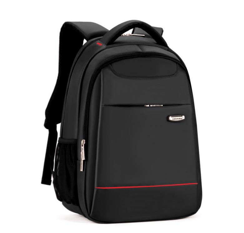 กระเป๋าเป้สะพายหลัง เป้โน๊ตบุ๊ค SHUAIBO SH-602 (สีดำแถบแดง และเทาแถบเหลือง)
