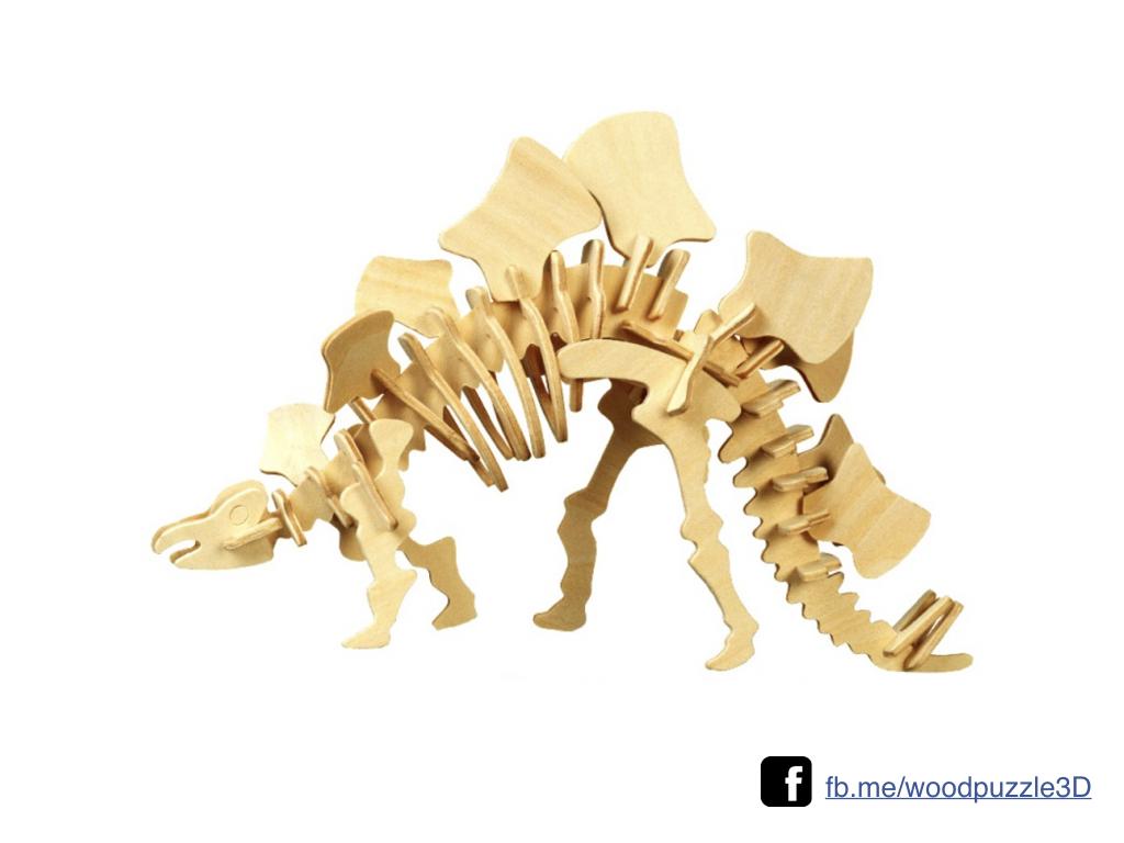 ตัวต่อไม้ 3 มิติ จิ้กซอว์ไม้ ตัวต่อไม้ไดโนเสาร์ สเตโกซอรัส 3D Animal Puzzle