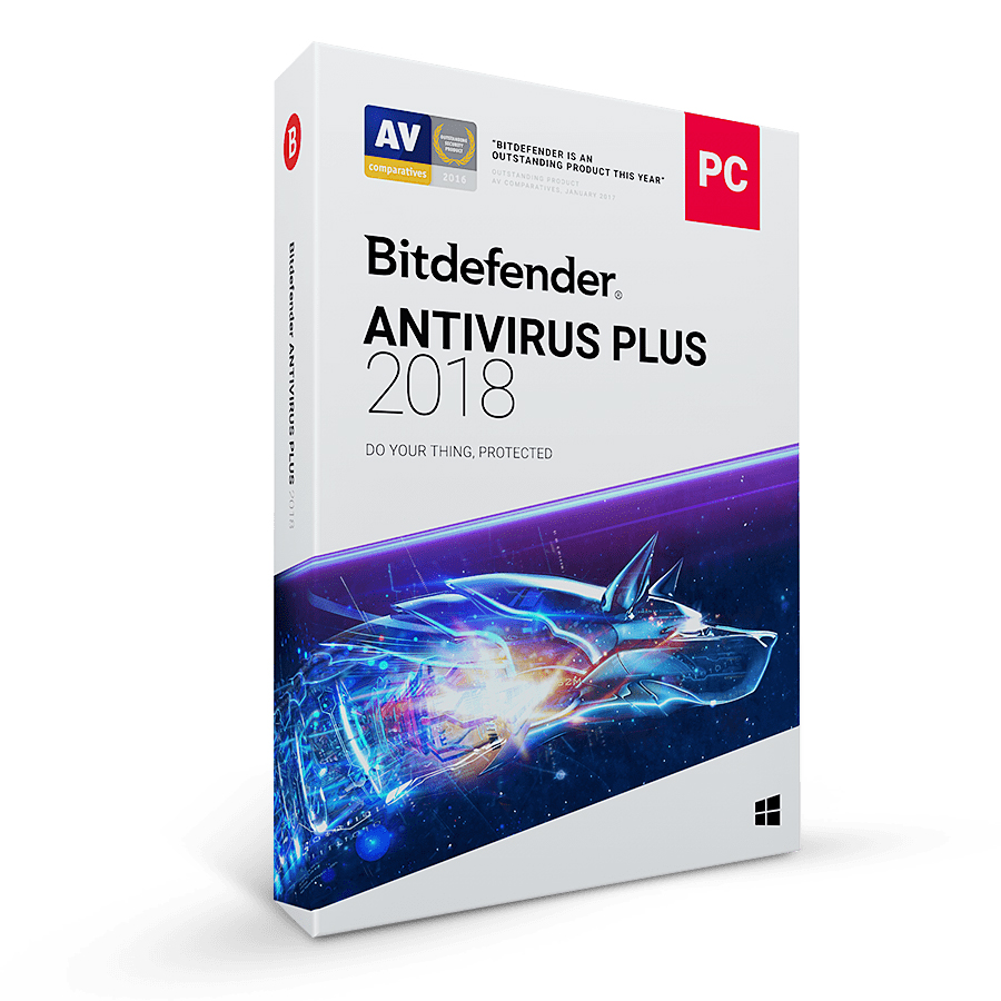 Bitdefender Antivirus Plus 2018 (1 Year , 1 PC)
