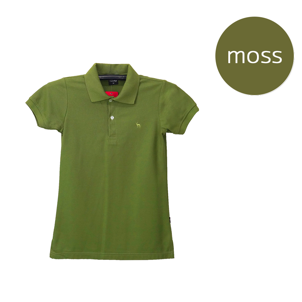 เสื้อโปโลหญิงสีเขียวขี้ม้า