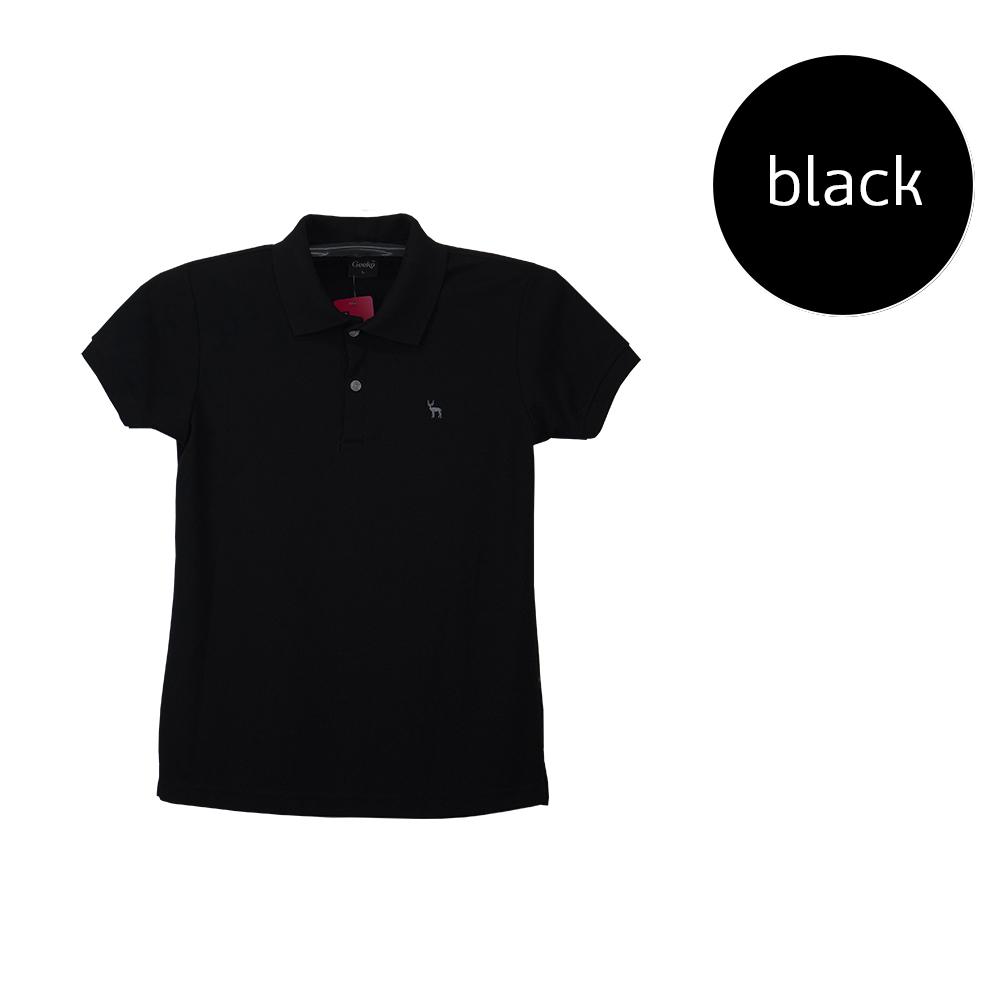 เสื้อโปโลหญิงสีดำ
