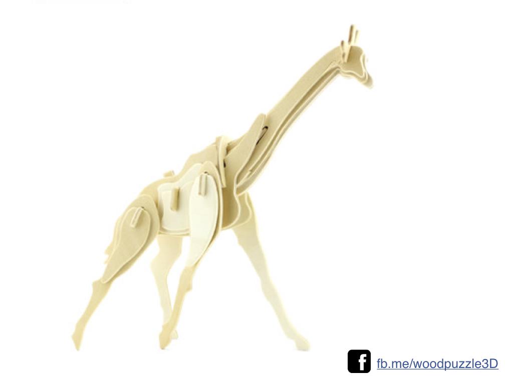 ตัวต่อไม้ 3 มิติ จิ้กซอว์ไม้ จิ้กซอว์ไม้ ตัวต่อไม้ยีราฟ 3D Animal Puzzle