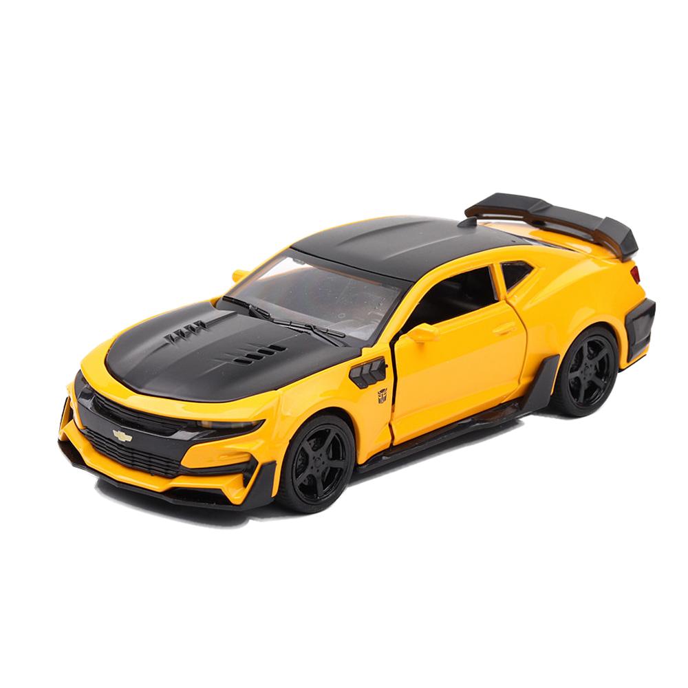 โมเดลรถเหล็ก Chevrolet Camero Bumblebee ขนาด 1:32 มีเสียง มีไฟ งานดี มีกล่อง พร้อมถ่าน เล่นได้ทันที