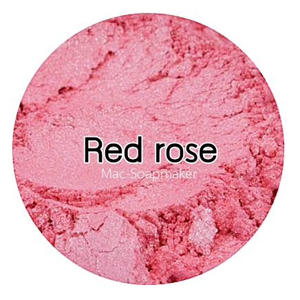 Red rose mica pearlescent pigment/ สีแดงกุหลาบประกายมุก