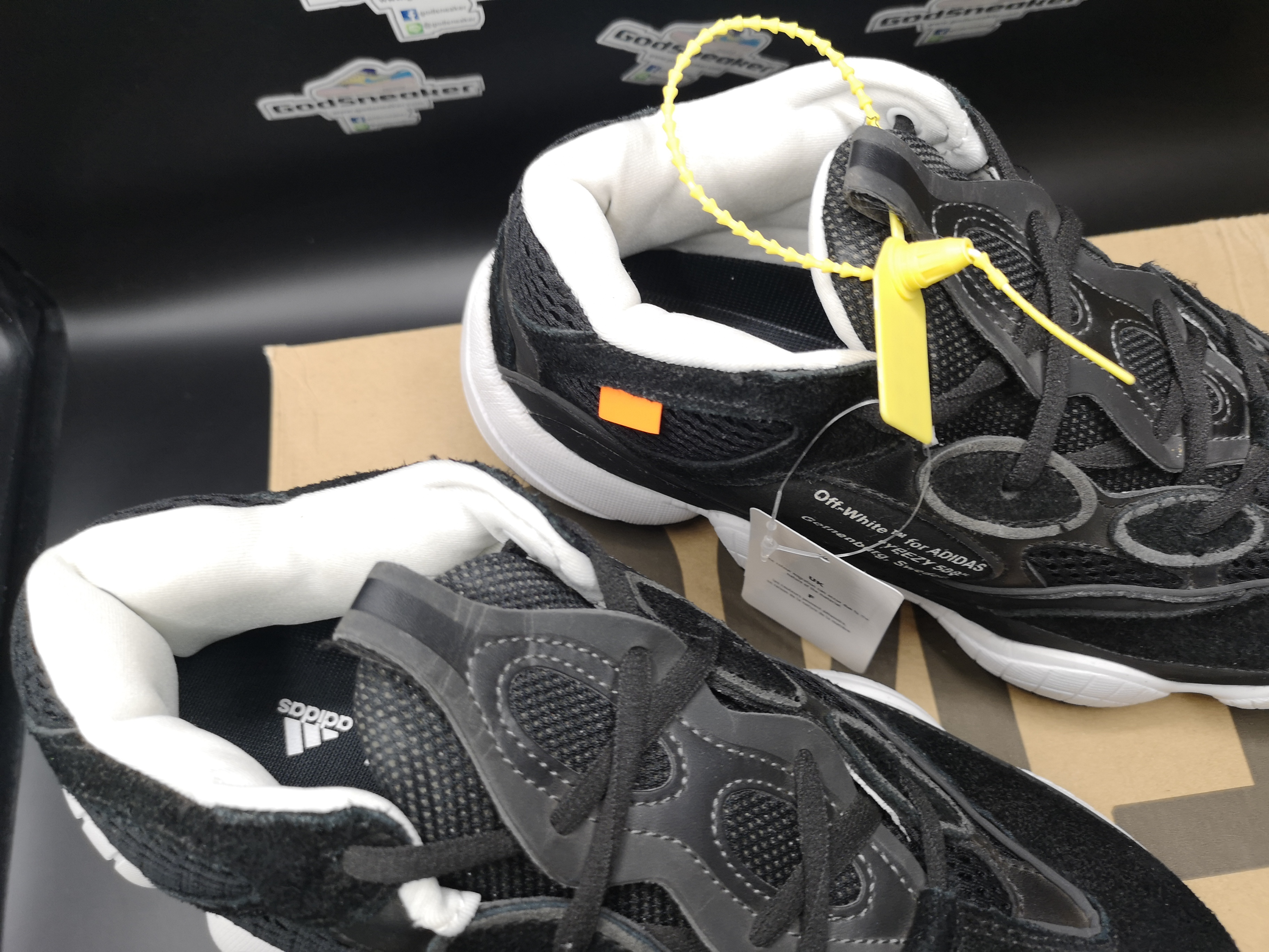 197e82dc26a Virgil Abloh Off-White x Kanye West x adidas Yeezy 500 Black Size 36 ...