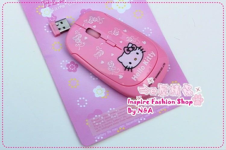 เมาส์ Hello Kitty สีชมพู 2012 new hello kitty wireless mouse wireless mouse / kitty / sister Favorites
