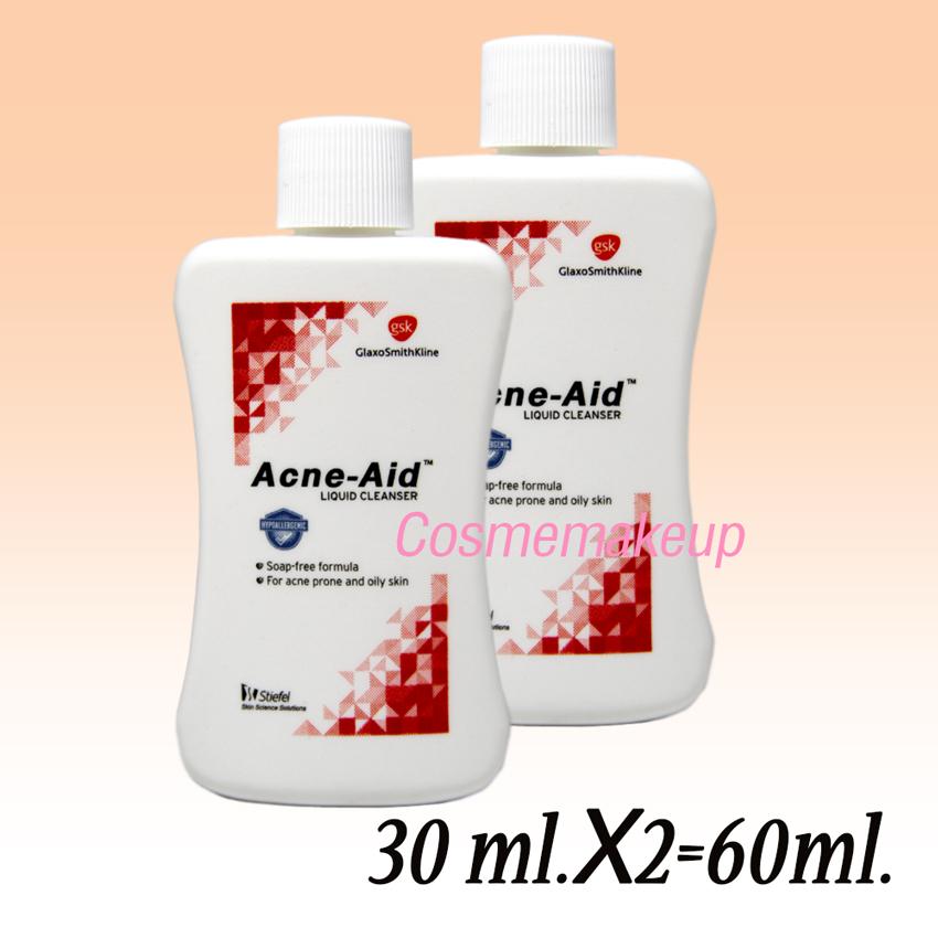 แพ็คคู่ Acne-Aid Liquid Cleanser สุดคุ้ม ( 30ml X 2 = 60ml.)