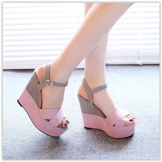 (พร้อมส่ง)รองเท้าส้นเตารีด แฟชั่น ราคาถูก มีไซด์ 37