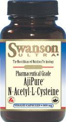 Swanson Ultra Pharmaceutical Grade Ajipure NAC 600 mg 60 Capsules
