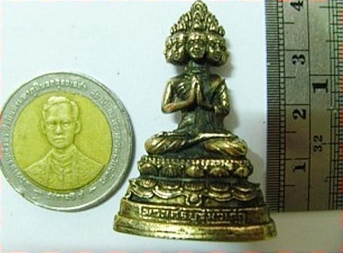 สินค้าหมดค่ะ พระบูชาพระเศรษฐีนวโกฏิองค์เล็ก(ตั้งบูชาหน้ารถ)ทำจากทองเหลืองพร้อมใบคาถา แบบ2ค่ะ